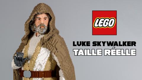 Montage d'un Luke Skywalker taille réelle... en Lego
