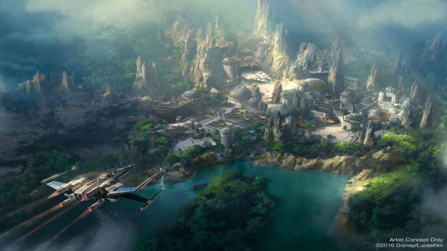 L'avancement du Galaxy's Edge en images !
