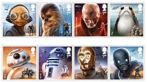 Des timbres Star Wars par la Poste britannique