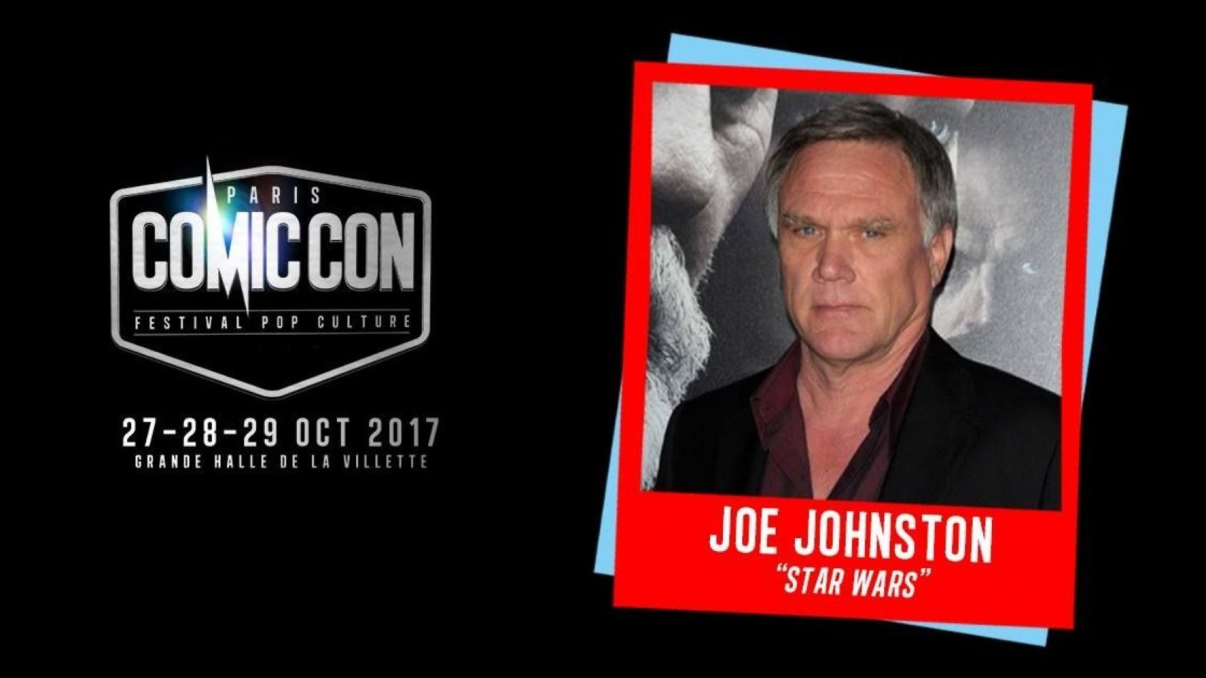 Joe Johnston sera invité au Comic Con de Paris !