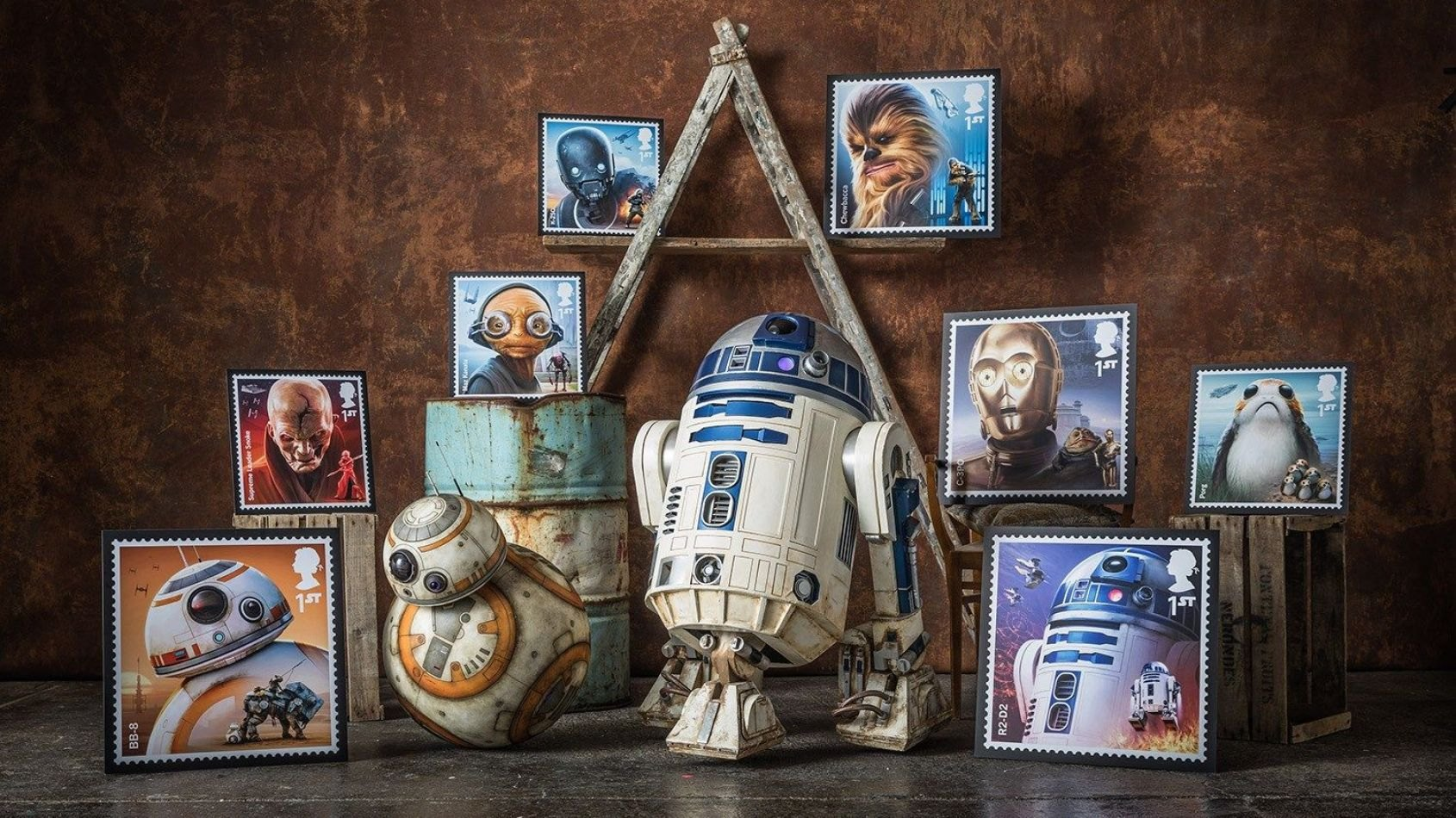 Les nouveaux timbres Star Wars de la Royal Mail sont disponibles !