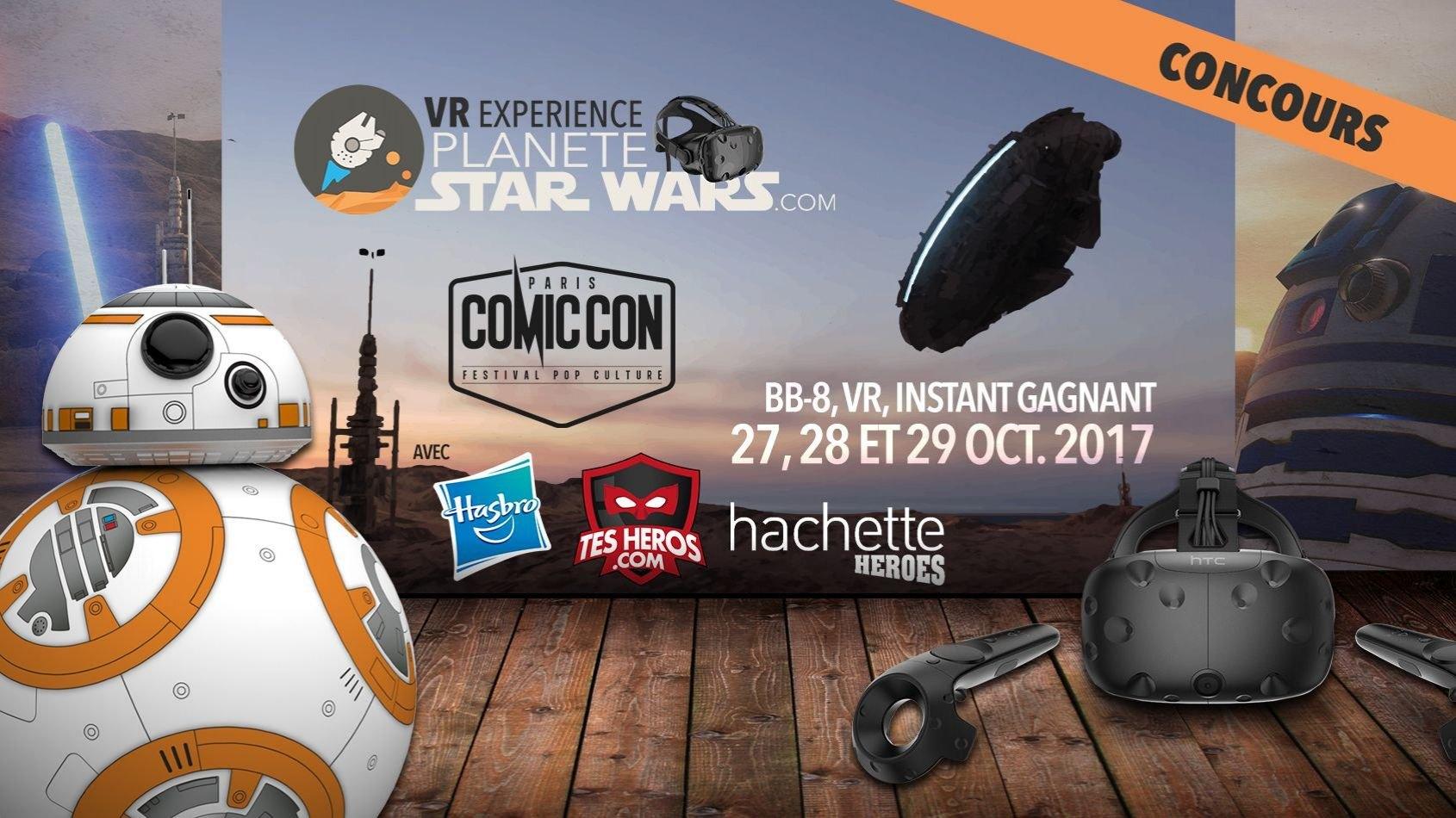 Concours Flash - 10 séances VR Experience Star Wars au Comic Con
