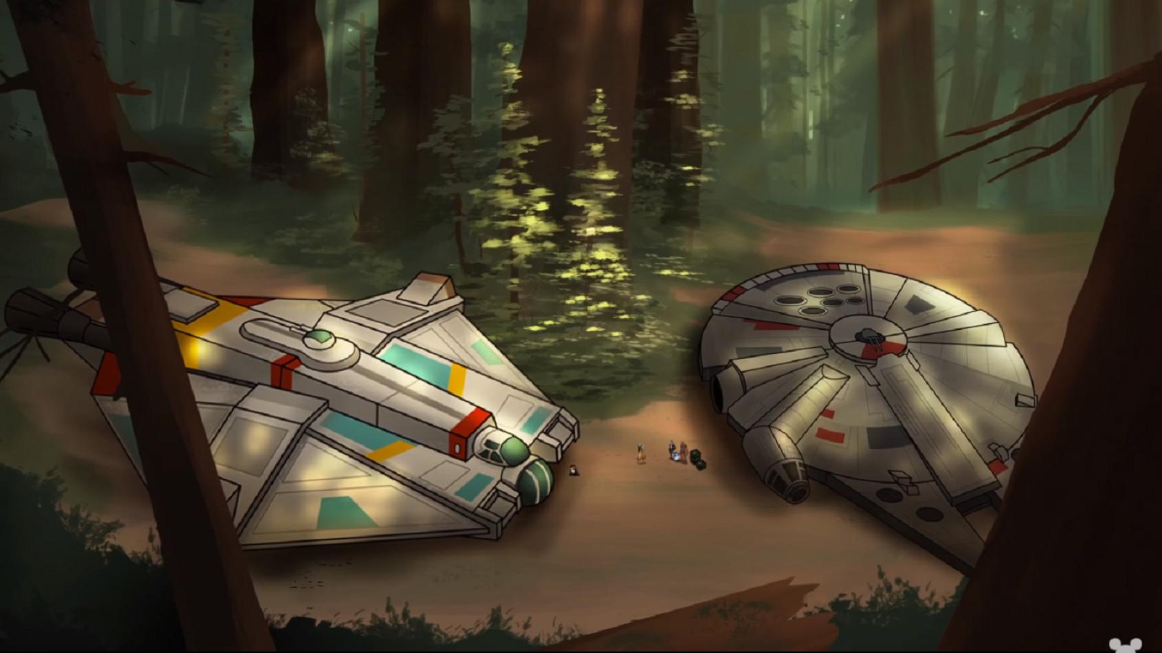 Les Rebelles sur Endor dans le dernier épisode de Forces du Destin