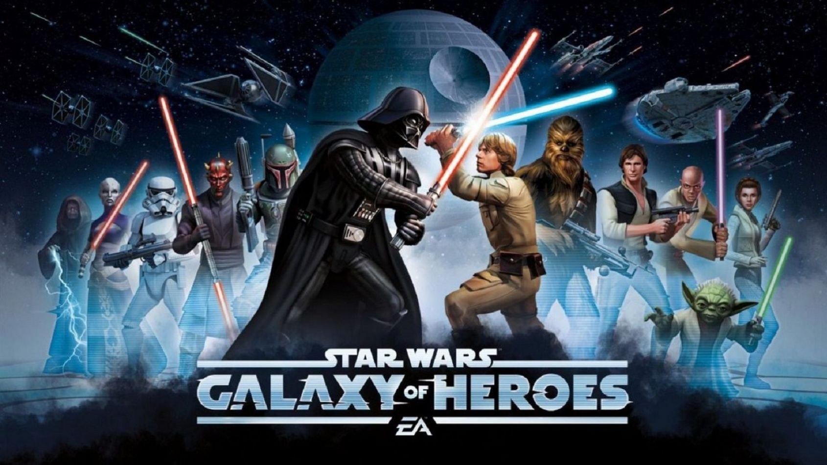 Un pilote et son chasseur dans les récompenses de Galaxy of Heroes