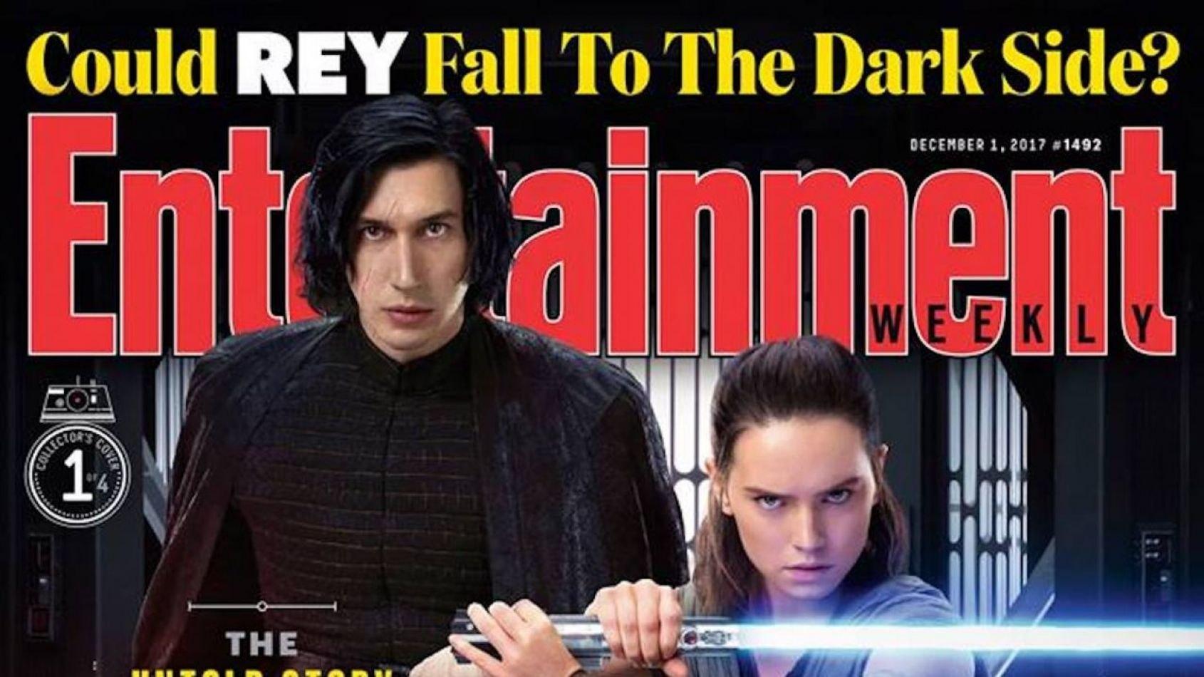 4 couvertures d'Entertainement Weekly pour les Derniers Jedi