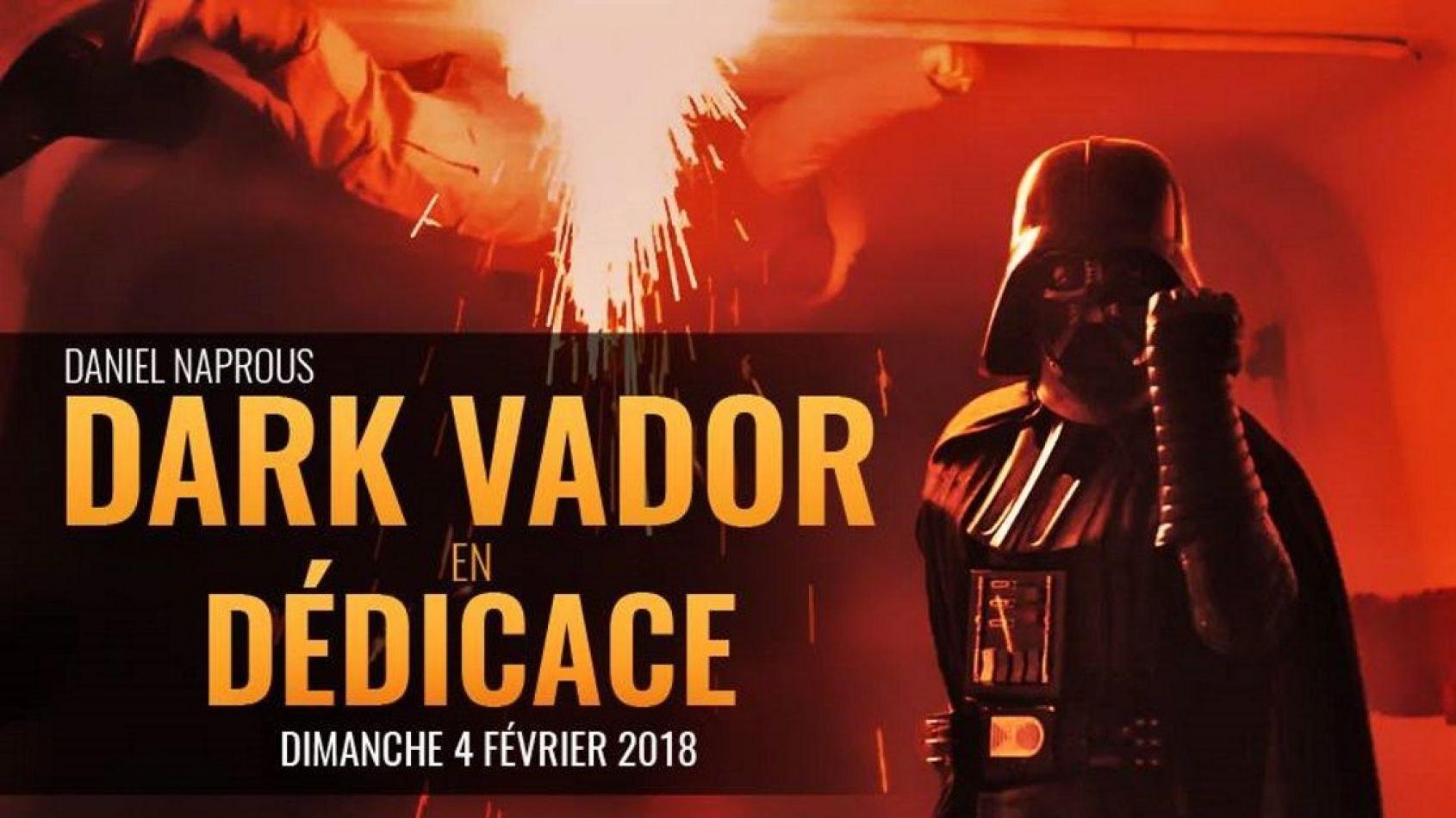 Dark Vador en dédicace chez Pulp's à Paris