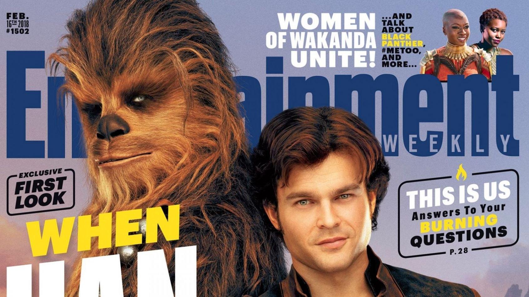 La couverture d'Entertainment Weekly consacrée à Solo