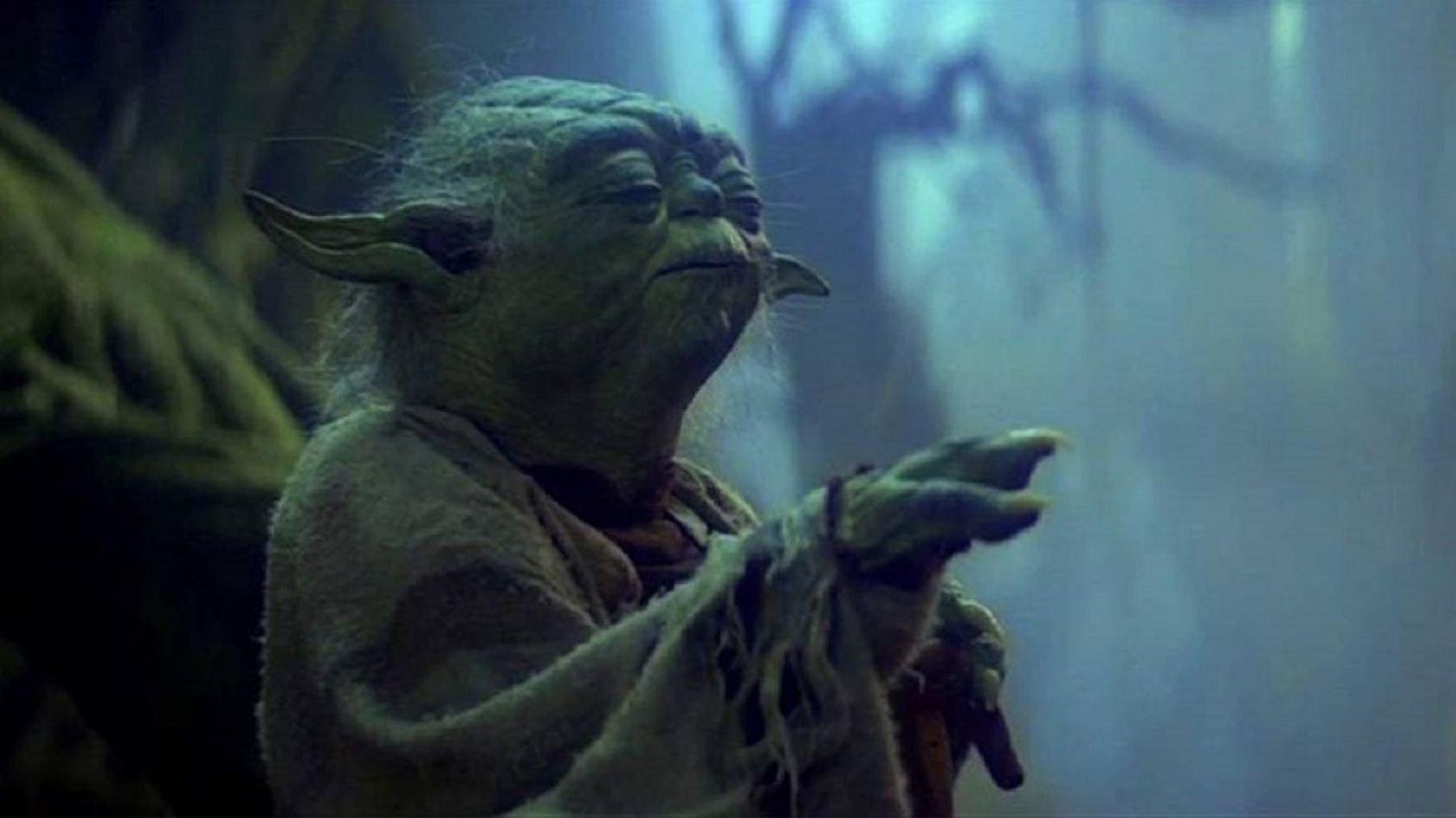 Yoda utilisant la Force par Attakus