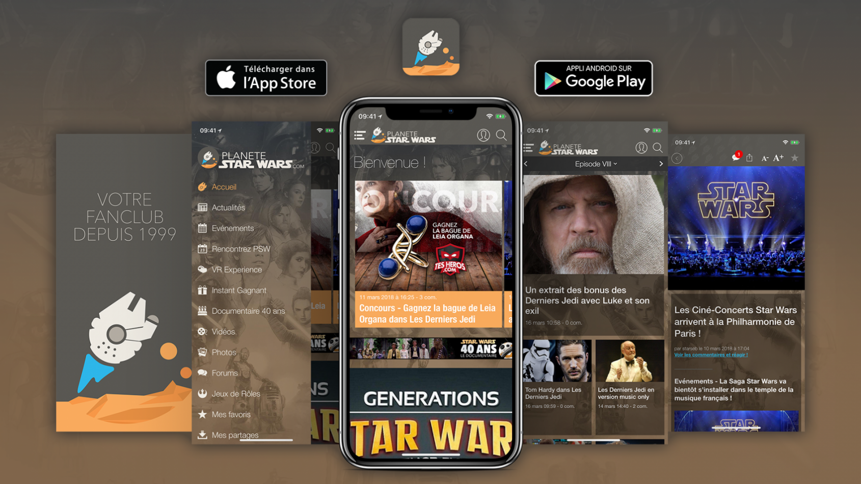 Avez-vous l'application mobile du fan club Star Wars ?