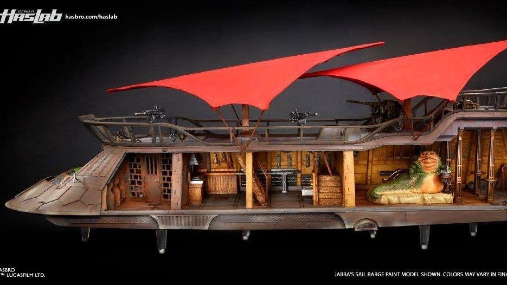 La barge de Jabba Hasbro se dévoile un peu plus