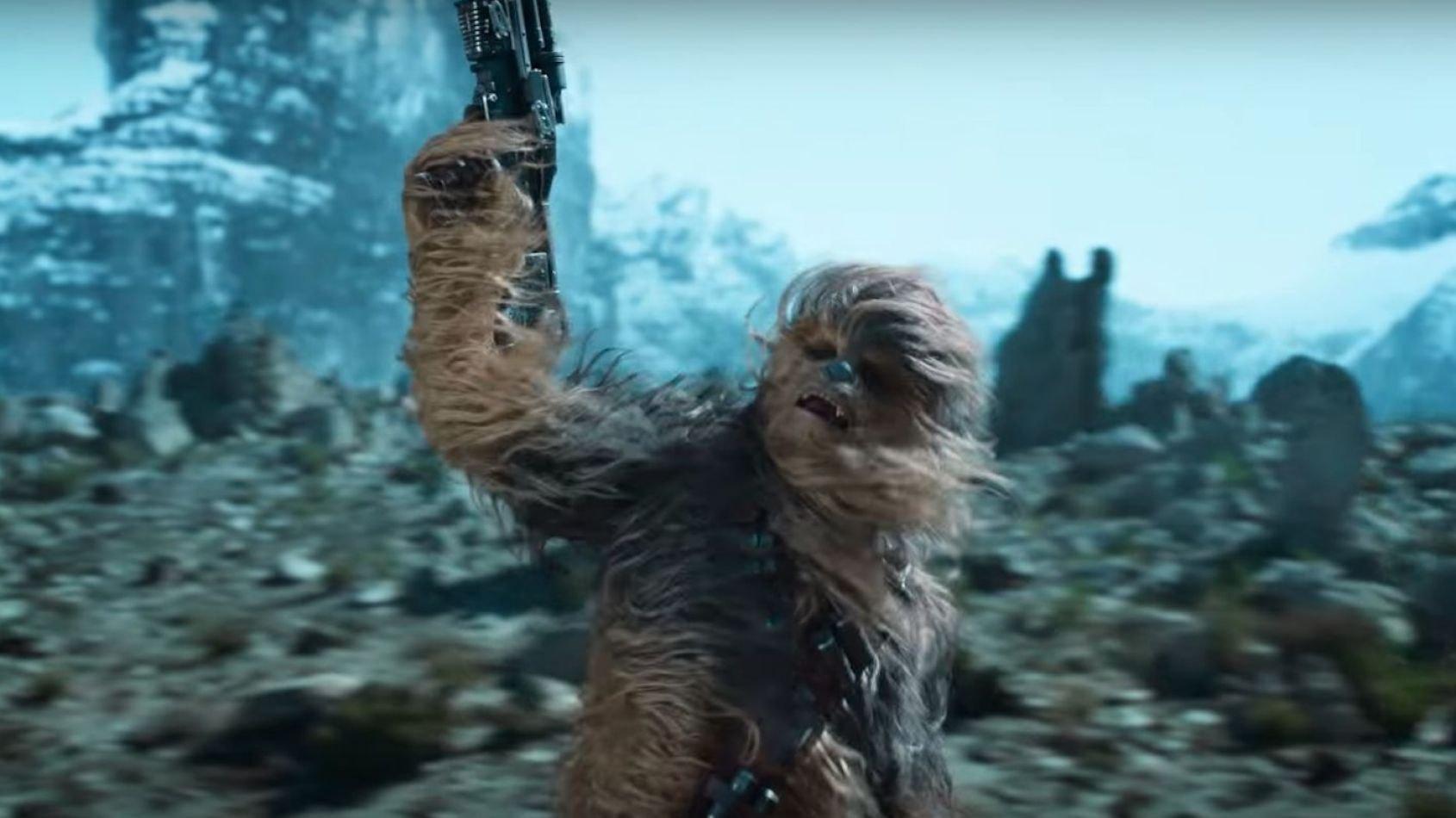 Chewbacca combat le Cloud-Rider Gang de Solo dans une publicité