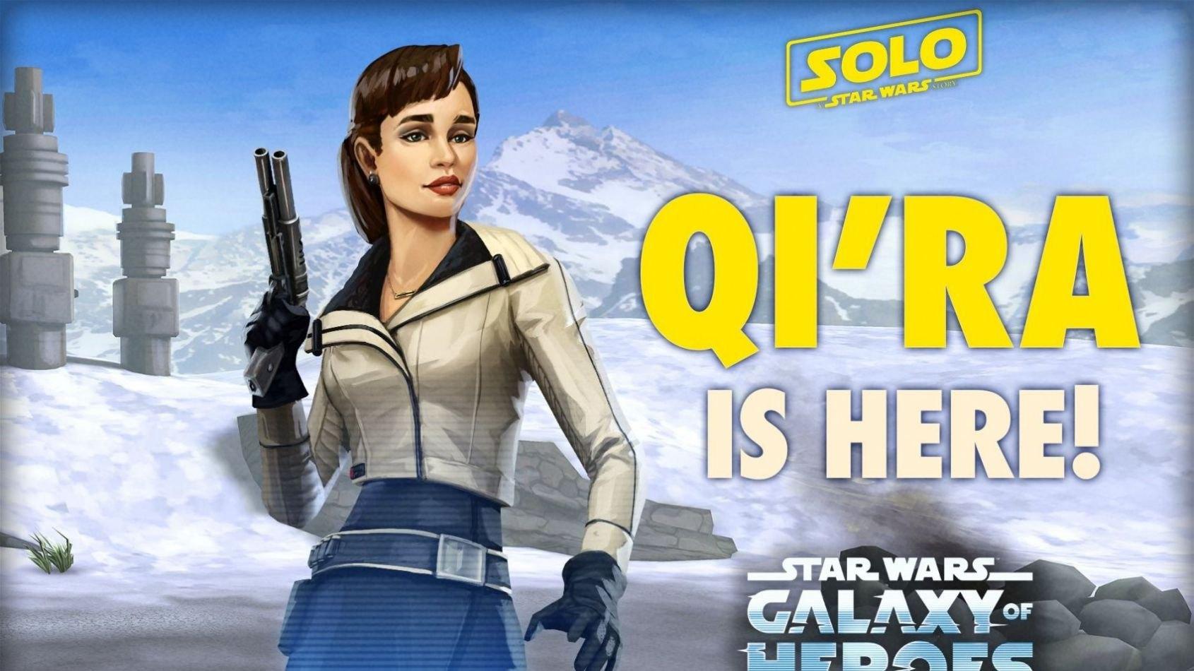 Qi'Ra fait son arrivée dans Galaxy of Heroes