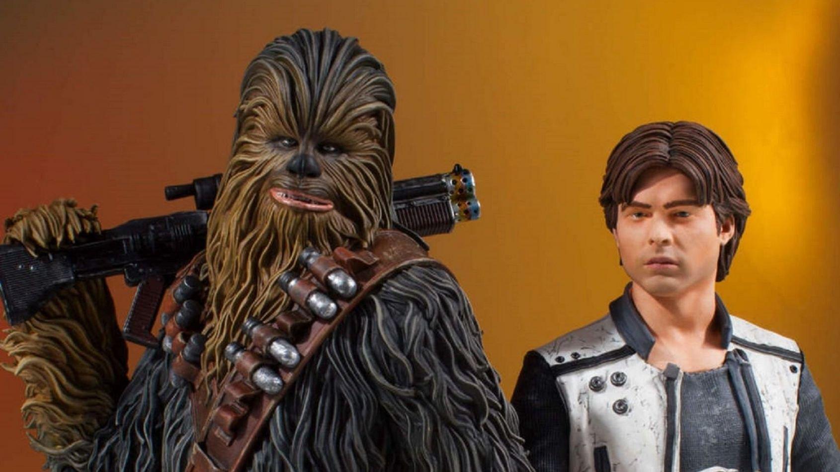 Gentle Giant : Mini-bustes de Han et Chewbacca issus du film Solo