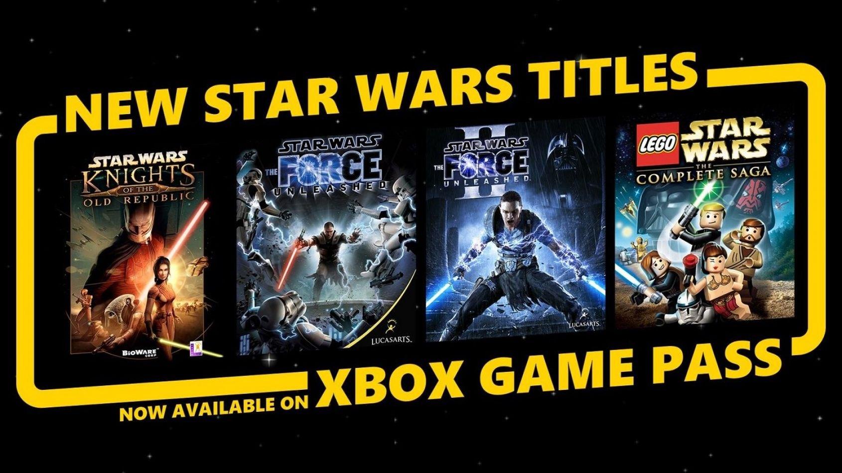 4 jeux Star Wars ajoutés sur le service Game Pass du Xbox Live