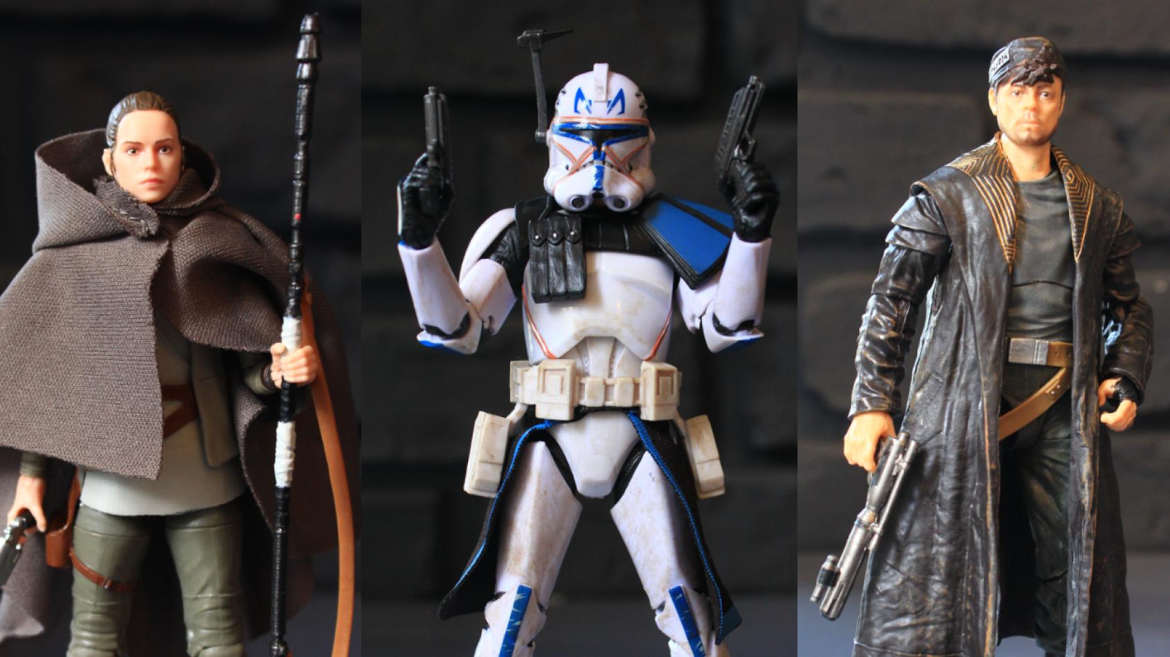 Reviews des figurines de Rey, Rex et DJ Black Series chez Hasbro