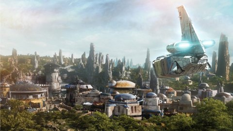 Des photos des coulisses du Galaxy's Edge