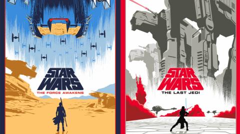 Série d'affiches Star Wars par l'artiste Eric Tan